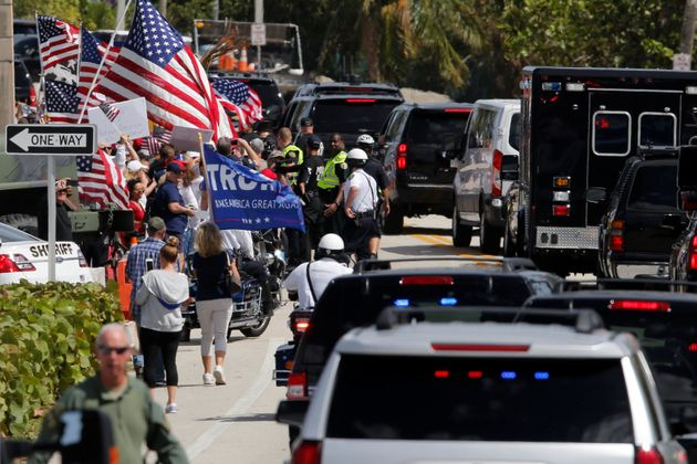 Trump held a rally on Saturday near to West Palm Beach and his Mar-a-Lago