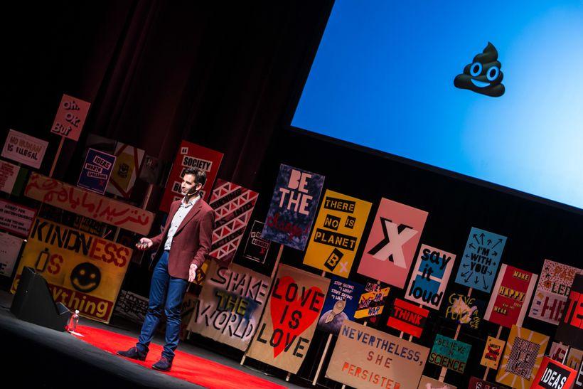 Jeremy Burge talking... emojis at TEDxEastEnd 2017