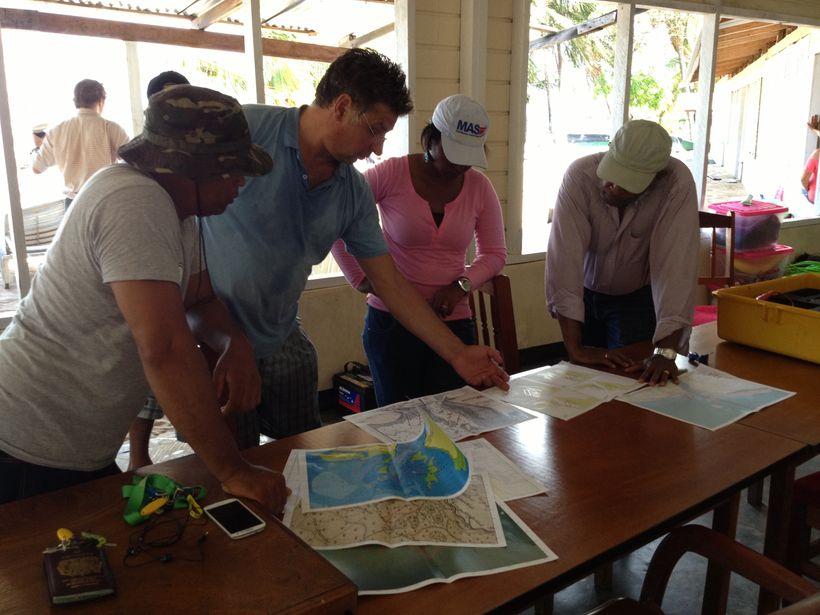 Leusden project meeting at Galibi, Suriname, 2013-14