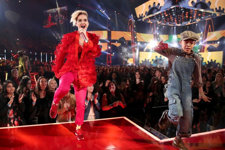Katy Perry performs onstage at the 2017 iHeartRadio Music Awards.