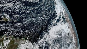 GOES-16 satellite image of the Earth