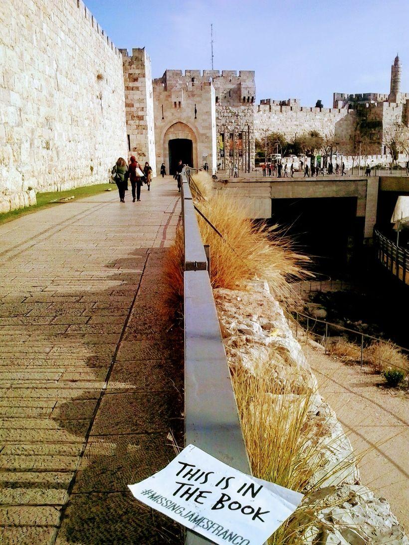 The passage to the Jaffa Gate of Jerusalem.