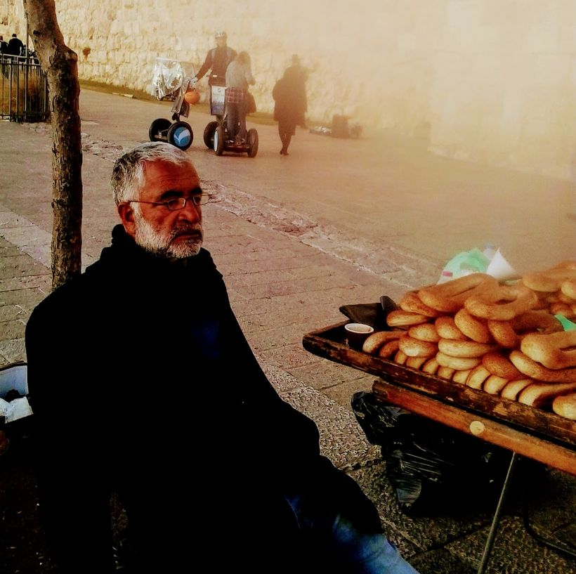 Zaki, the wise man outside the Jaffa Gate welcoming all travelers.