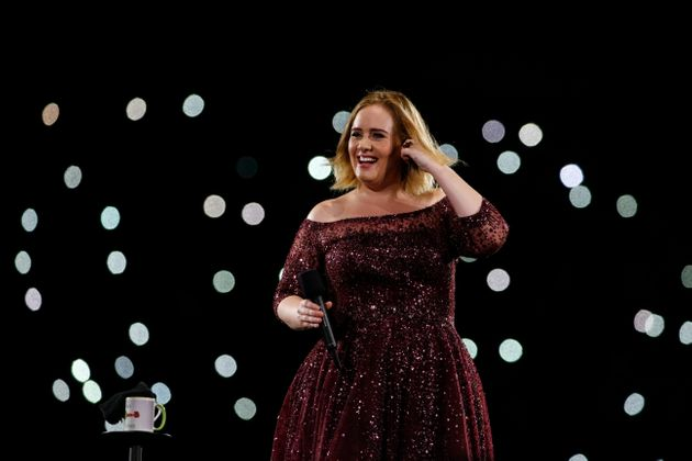 Adele on stage in