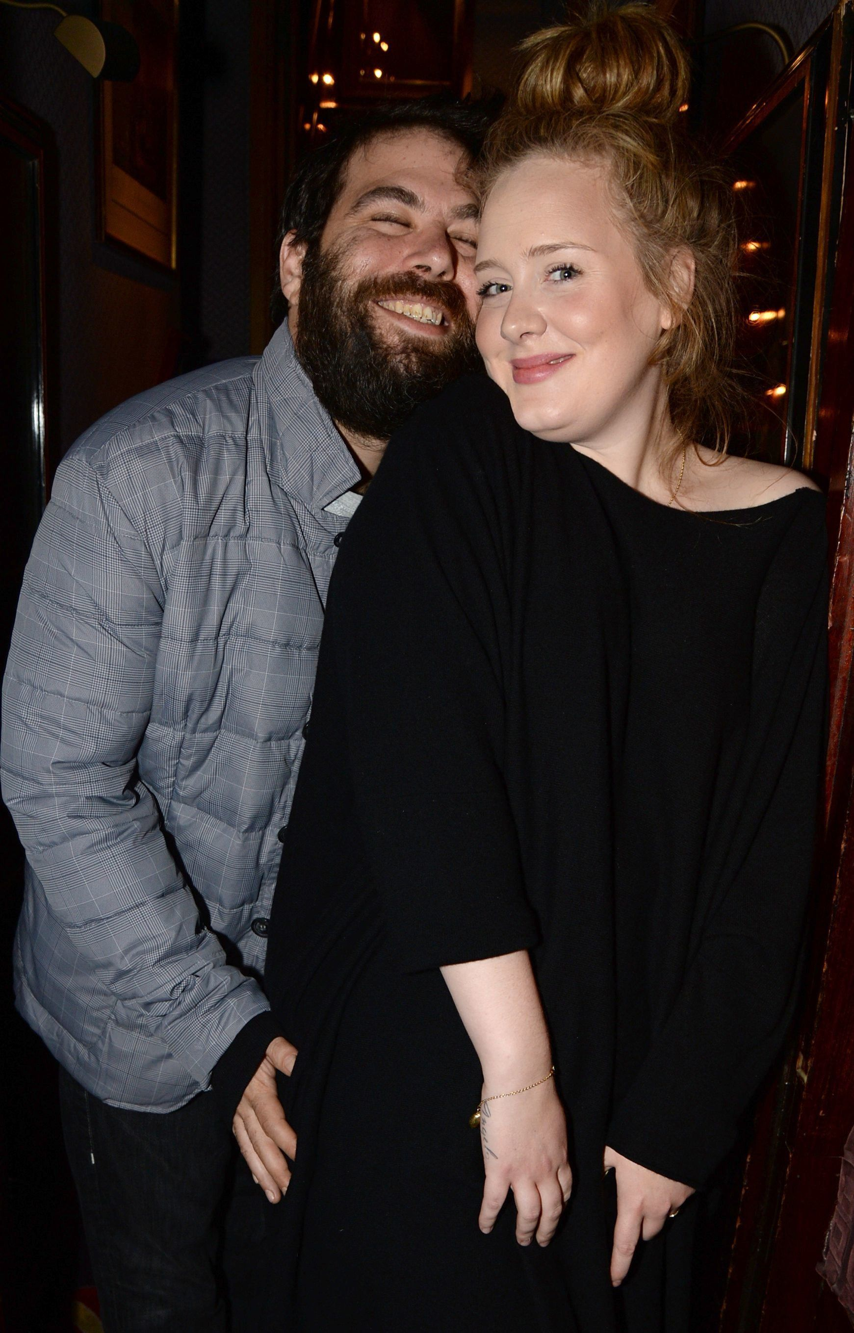 Adele and Simon Konecki at a Lady Gaga concert in