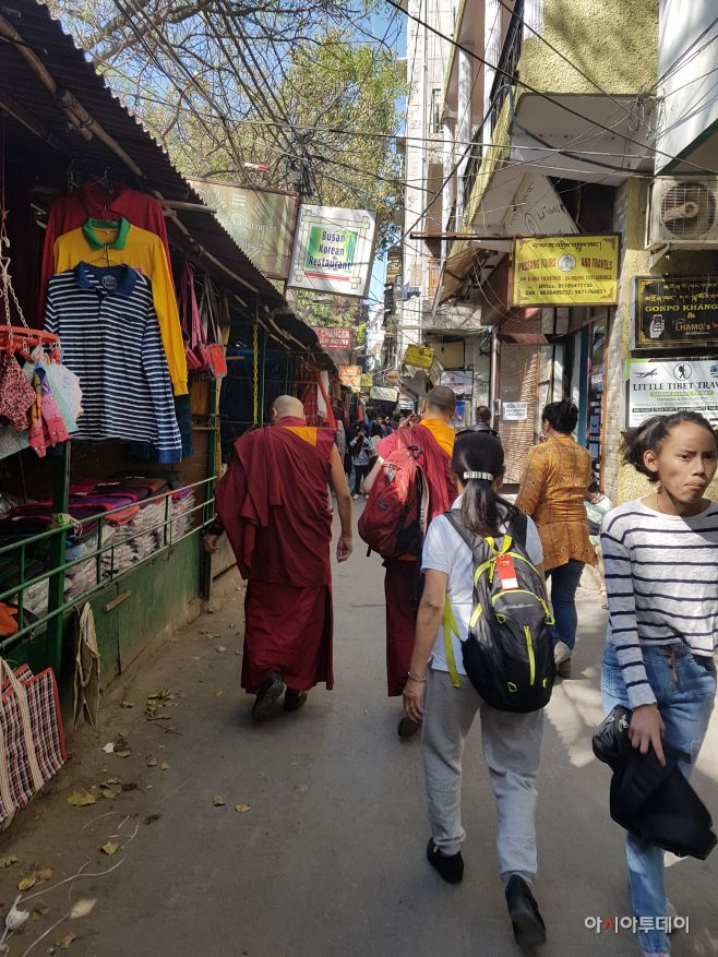 The streets of Majnu Ka Tilla, a Tibetan colony also known as Little Tibet of Delhi, is located in northern New Delhi./ Photo