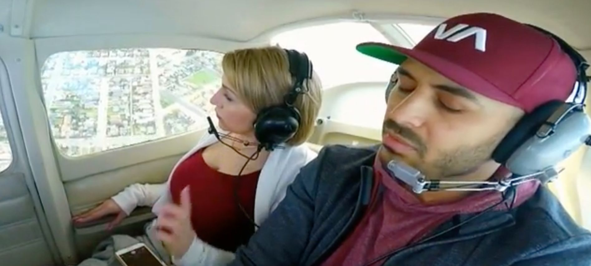 Guy Vomits While Proposing To Girlfriend In Plane