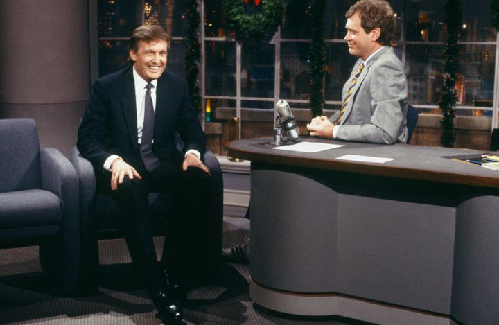 Letterman interviewing Trump in 1987.