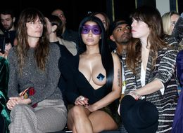 Nicki Minaj Bared All On The Front Row At PFW And The French Loved It