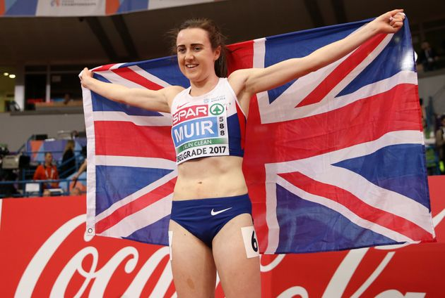 Laura Muir won her first major gold at theEuropean Athletics Indoor