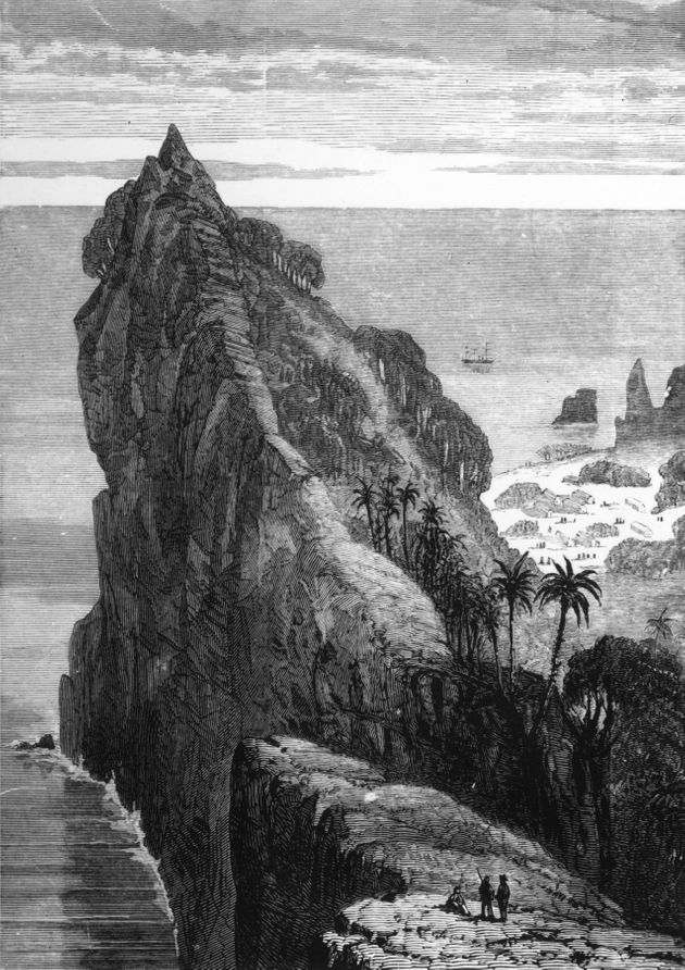 The Pacific Island of Pitcairn, which was settled bymutineers of the HMS
