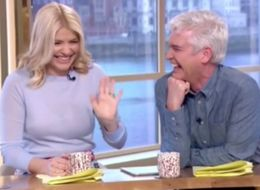 Holly Willoughby And Phillip Schofield Lose It At Gino D'Acampo's 'Sausage In A Hole'