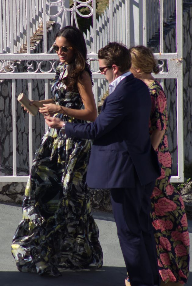 Markle at the wedding for Harry's best friend Tom