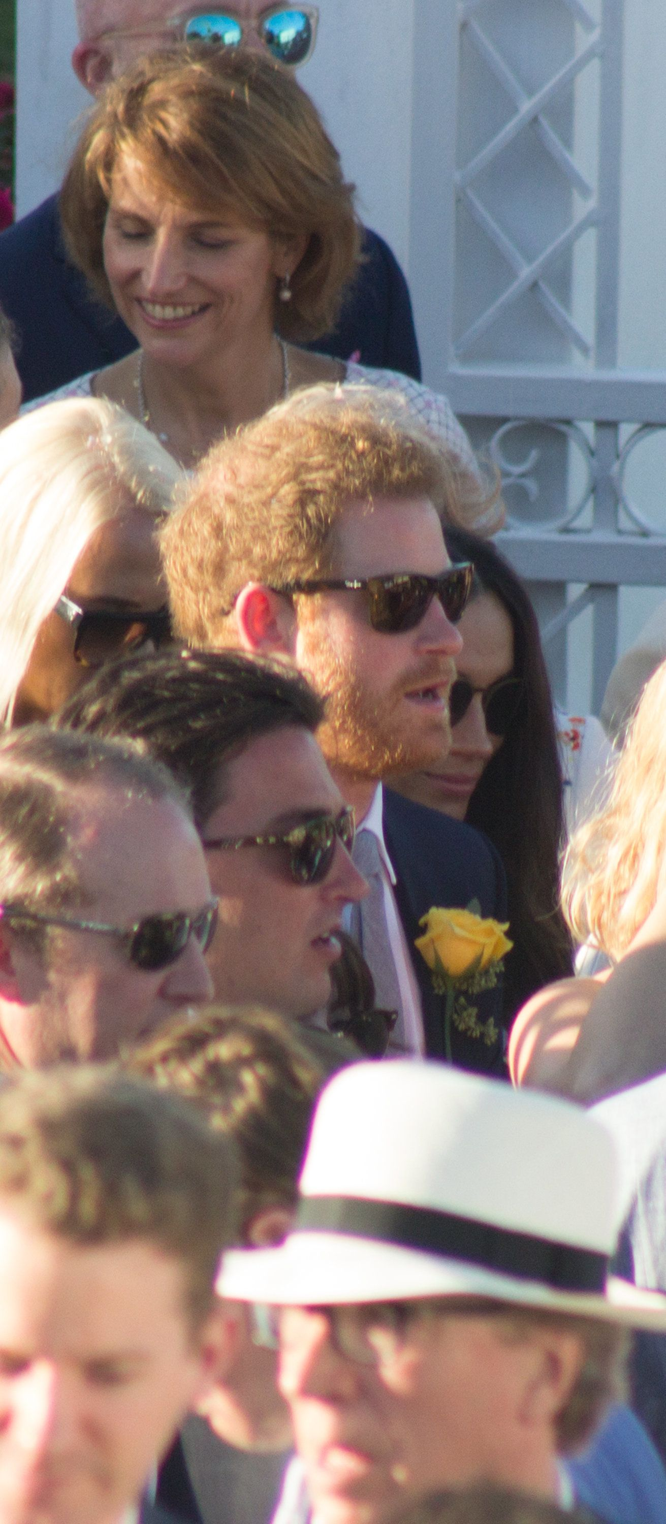 The prince sported shades and a little scruff.