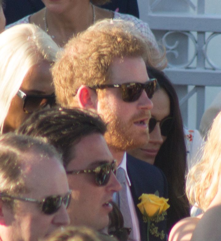 The prince sportedshades and a little scruff.