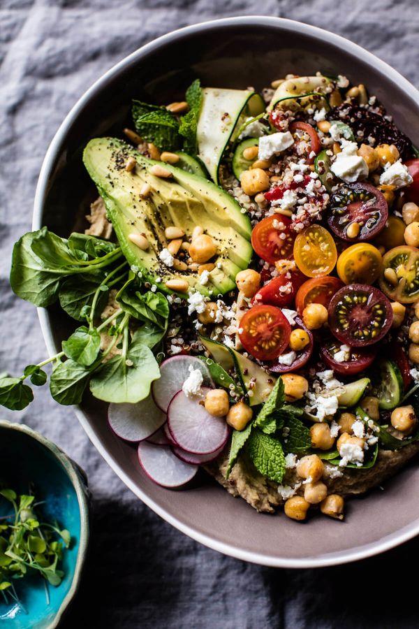 "<strong>Get the <a href=""https://www.halfbakedharvest.com/loaded-greek-quinoa-salad/"" target=""_blank"">Loaded Greek Quinoa Sal"