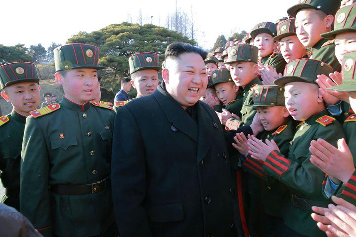 North Korean leader Kim Jong Un visited Mangyongdae Revolutionary School.