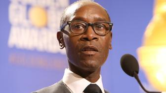 BEVERLY HILLS, CA - DECEMBER 12:  Don Cheadle speaks onstage during The 74th Annual Golden Globe Awards nominations press conference held at The Beverly Hilton Hotel on December 12, 2016 in Beverly Hills, California.  (Photo by Michael Tran/FilmMagic)