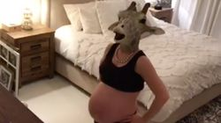 Pregnant Mom Spoofs Expecting Giraffe In The Most Hilarious