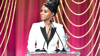 BEVERLY HILLS, CA - FEBRUARY 23:  Honoree Janelle Monae accepts the 'Breakthrough Award' onstage at Essence Black Women in Hollywood Awards at the Beverly Wilshire Four Seasons Hotel on February 23, 2017 in Beverly Hills, California.  (Photo by Earl Gibson III/Getty Images for Essence)