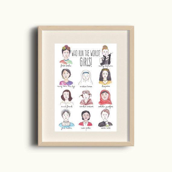 "$9.37, <a href=""https://www.etsy.com/listing/277642880/inspirational-women-print-watercolour?ga_order=most_relevant&ga_se"