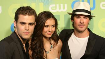 NEW YORK - MAY 21:  (L-R) Actors Paul Wesley, Nina Dobrev and Ian Somerhalder attend the 2009 The CW Network UpFront at Madison Square Garden on May 21, 2009 in New York, New York.  (Photo by Bryan Bedder/Getty Images)