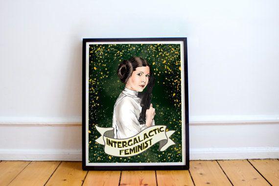 "Buy it <a href=""https://www.etsy.com/listing/489088974/princess-leia-feminist-print-carrie?ga_order=most_relevant&ga_sear"