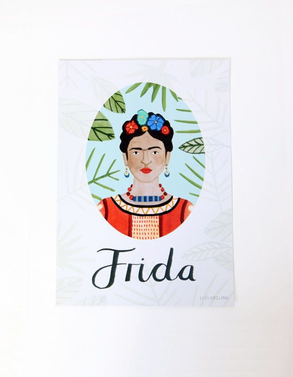 "Buy it <a href=""https://www.etsy.com/listing/450751594/frida-kahlo-poster-feminist-heroes?ga_order=most_relevant&ga_searc"
