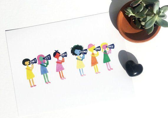 """Buy it <a href=""""https://www.etsy.com/listing/493800044/no-silencio-girls-print-womens-march-art?ga_order=most_relevant&ga"""
