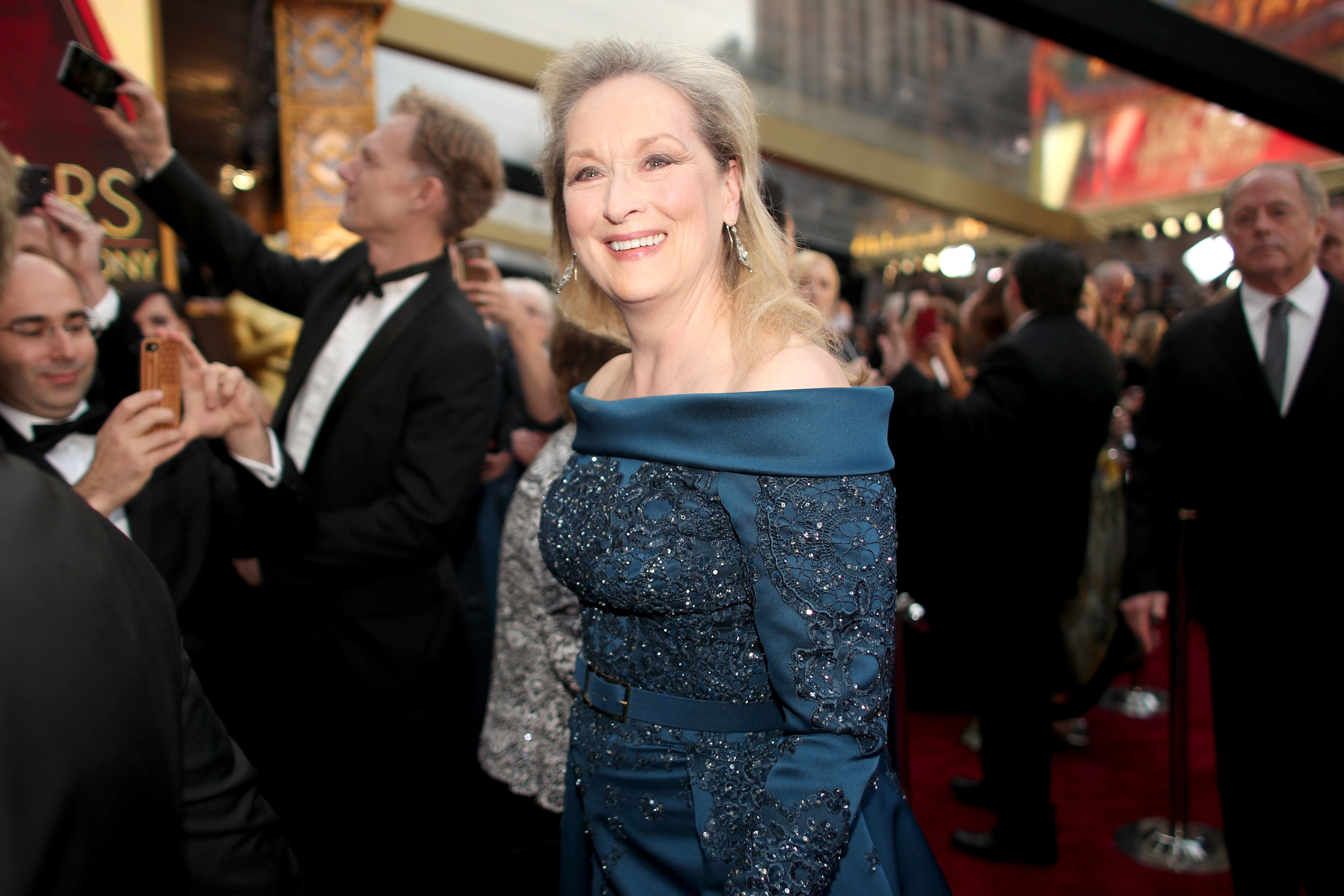 HOLLYWOOD, CA - FEBRUARY 26:  Actor Meryl Streep attends the 89th Annual Academy Awards at Hollywood & Highland Center on February 26, 2017 in Hollywood, California.  (Photo by Christopher Polk/Getty Images)