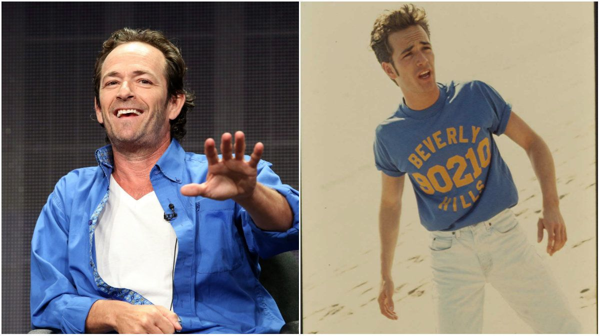 "Actor Luke Perry said he would be hesitant to have his kids involved with his ""Beverly Hills, 90210"" character Dy"