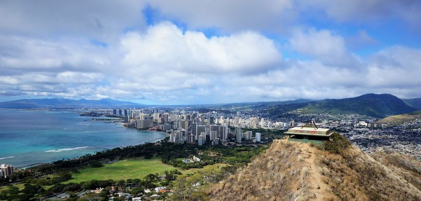 The current view from Diamond Head