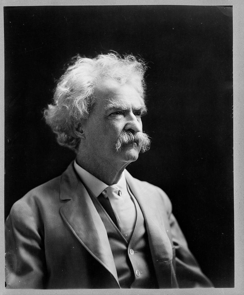 Mark Twain, 40 years after his Hawaiian adventures.
