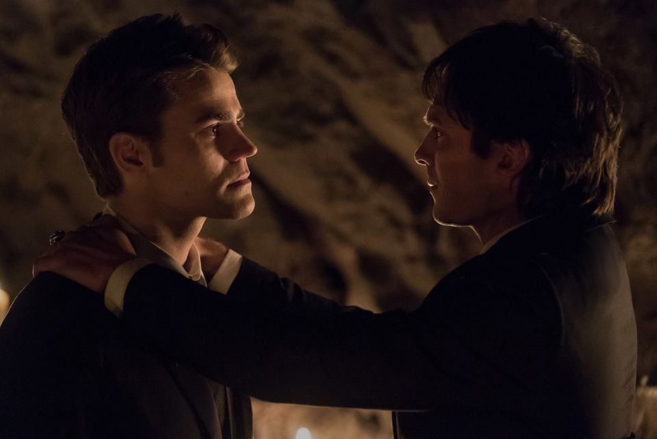 Paul Wesley and Ian Somerhalder as Stefan and Damonon