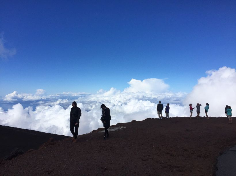 The sensation of walking above the clouds is easy on the 10,023-foot summit of Haleakala.