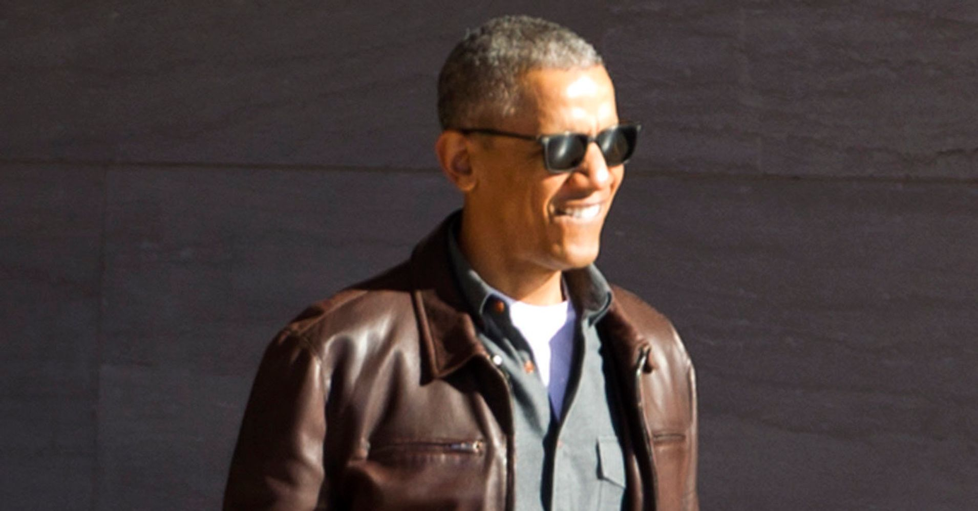 ffa1c897baf033 Barack Obama Doesn't Look Too Worried About Life In This Leather Jacket |  HuffPost Life
