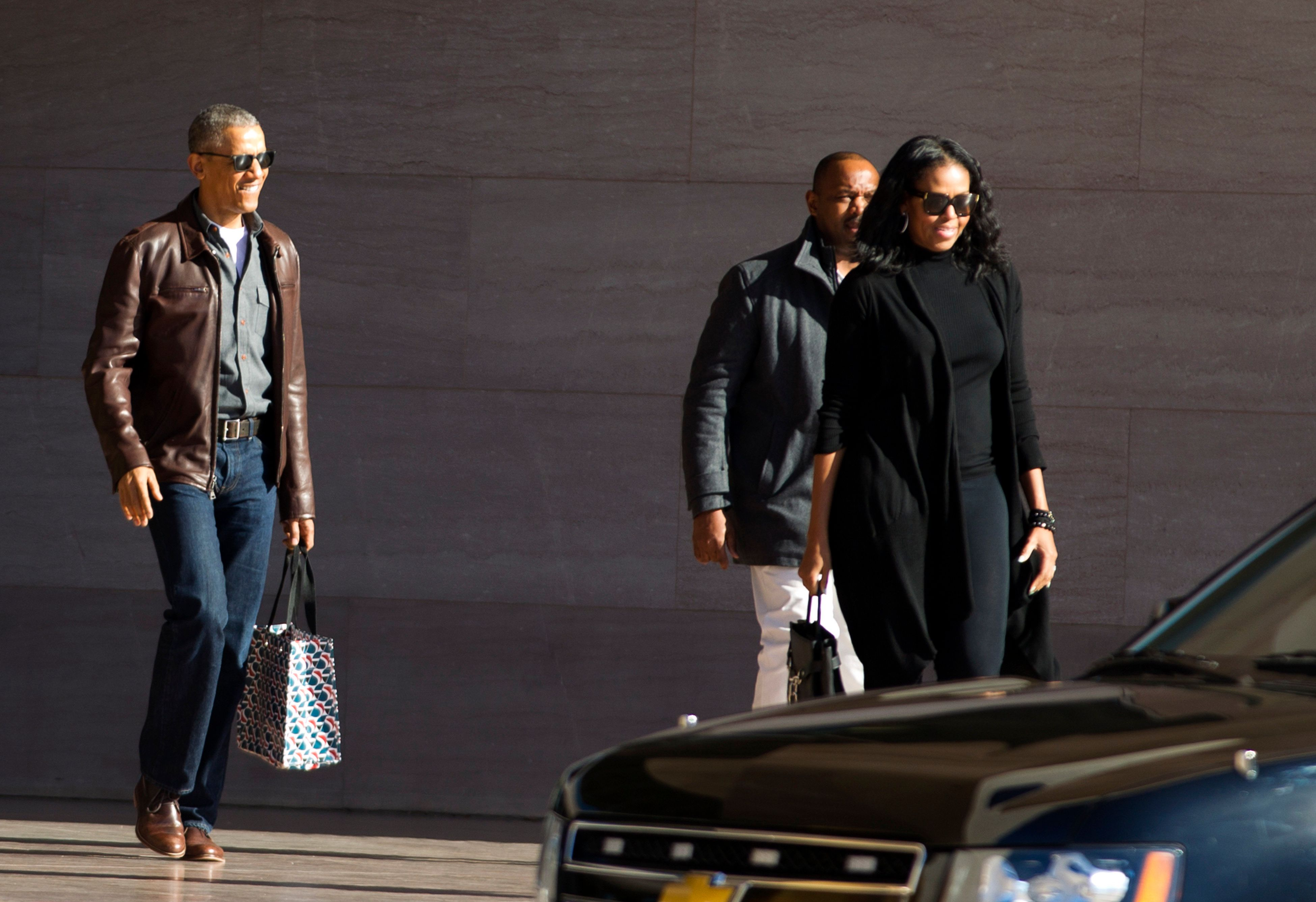 """People Magazine's article about the former<a href=""""http://people.com/style/barack-obama-post-presidency-style-leather-j"""