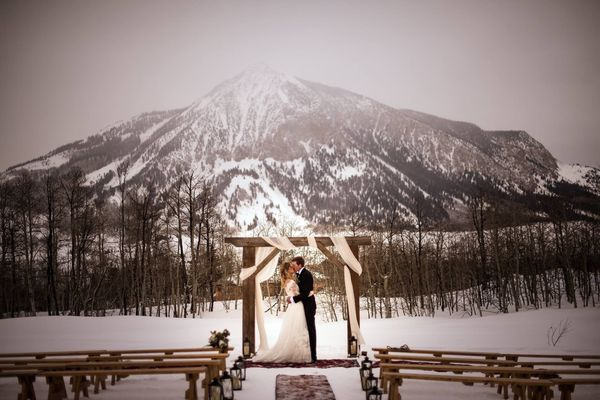 """Frances and Wester Fitzgerald married in Crested Butte, Colorado."" -- <i>KiKi Creates</i>"