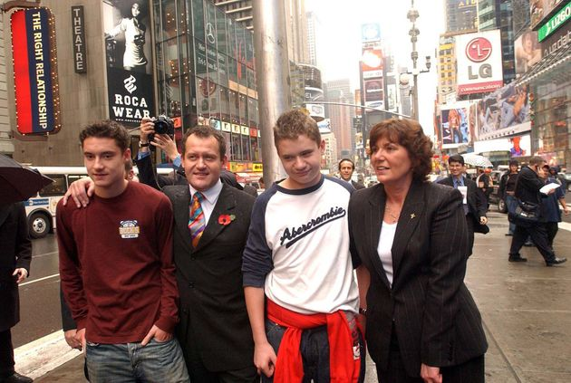 Paul with his sons Alexander (left), Nicholas, and his ex-wife