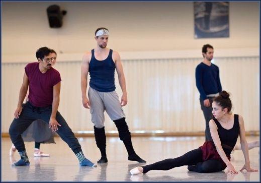 Arthur Pita, Luke Ingham and Dores André rehearse <em>Salome</em>.