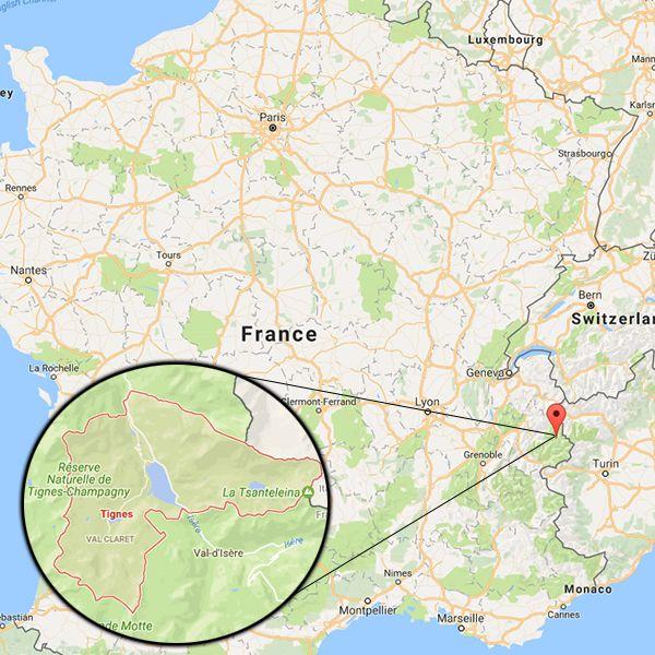 Tignes is a popular ski resort in south-eastern France, near