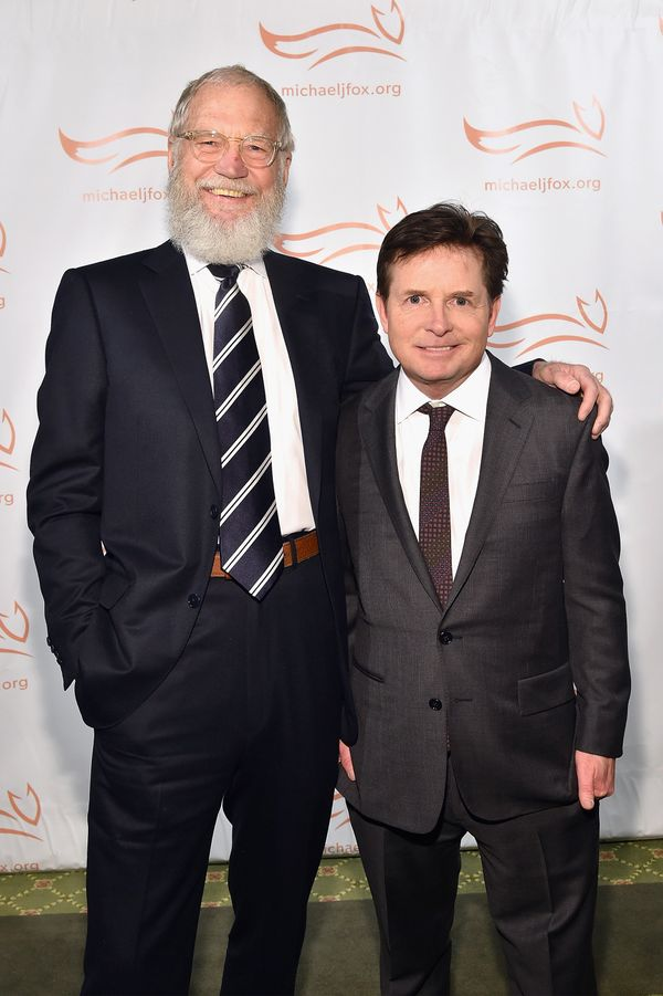 It was almost atfull Santa Claus mode at the Michael J. Fox Foundation Gala in New York City in November 2015.