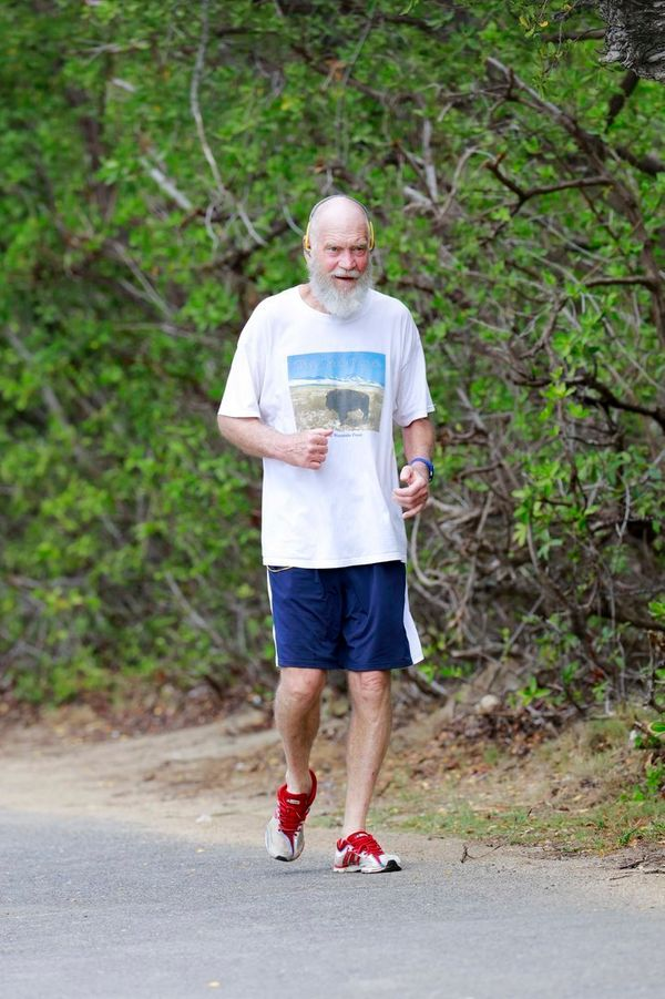 The beard was catchingall that St. Barths sweat on a jog in March 2016.