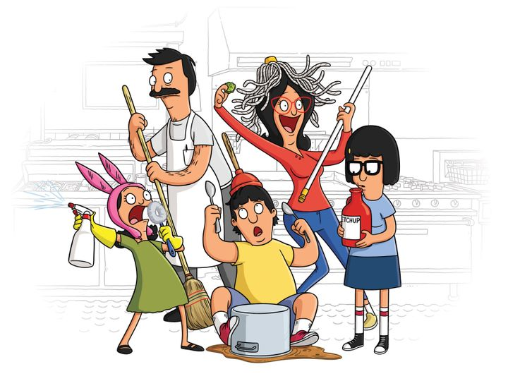"The Belcher family on Fox's ""Bob's Burgers."""