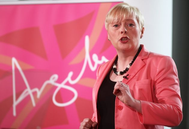 Angela Eagle on the day of her leadership launch in July