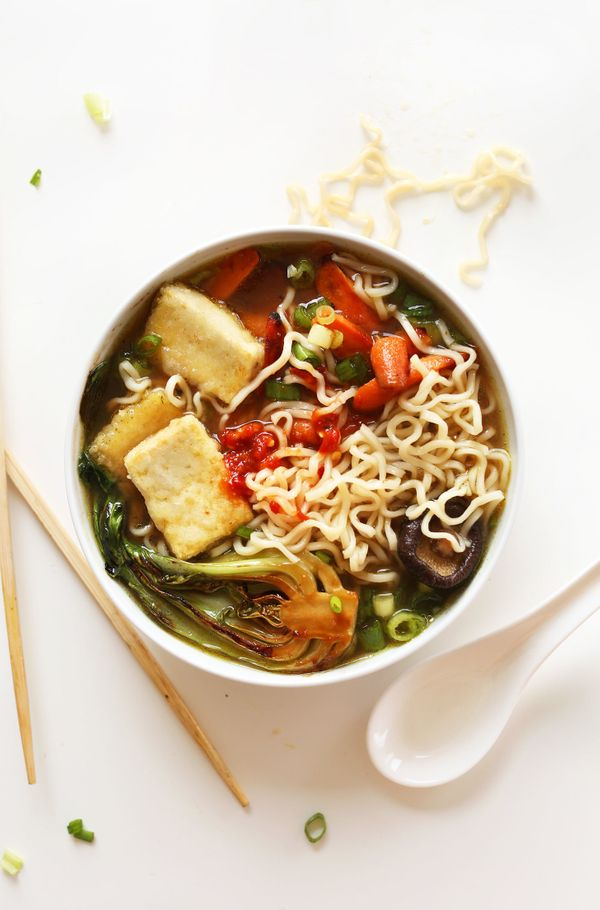 "<strong>Get the <a href=""http://minimalistbaker.com/easy-vegan-ramen/"" target=""_blank"">Easy Vegan Ramen recipe</a>from"