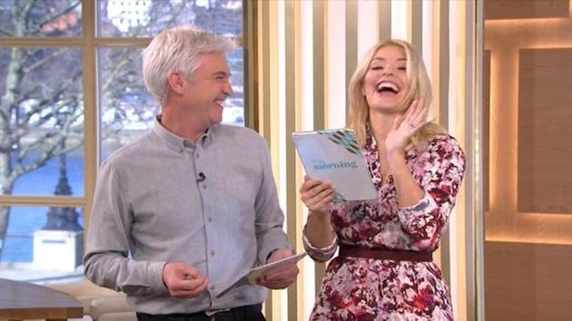 Holly Willoughby had a slip of the tongue on 'This