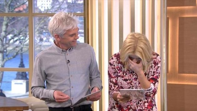 The presenter found it hilarious she'd accidentally said