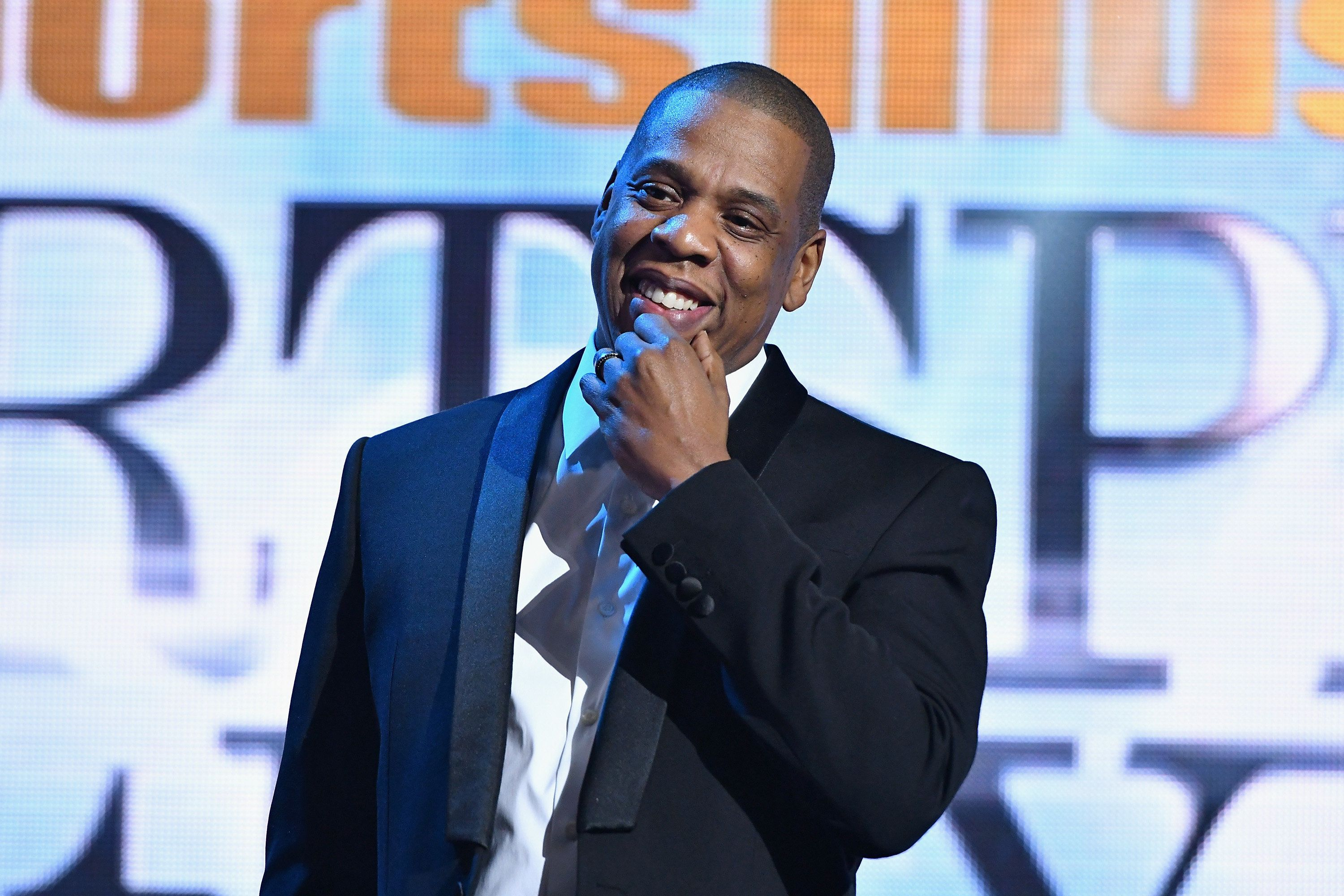 NEW YORK, NY - DECEMBER 12:  Jay Z speaks onstage during the Sports Illustrated Sportsperson of the Year Ceremony 2016 at Barclays Center of Brooklyn on December 12, 2016 in New York City.  (Photo by Slaven Vlasic/Getty Images for Sports Illustrated)