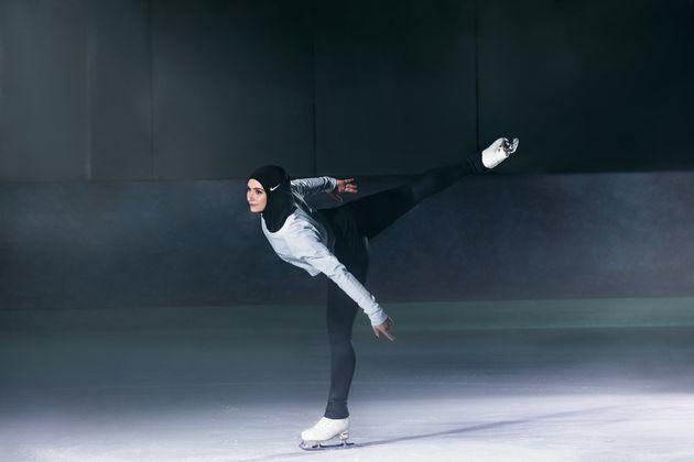 Emirati figure skater Zahra